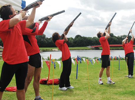 The Games team building events - clay shooting