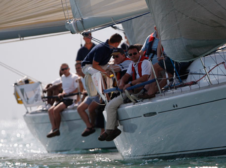 Cowes Week Race Charter team building event